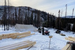 The-building-site-off-Nugget-Creek-with-some-of-the-logs-delivered.
