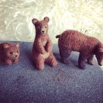 Needle Felted bears