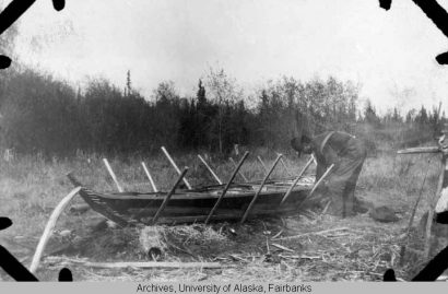 Alaska's Digital Archives, Construction of a Birch Bark Canoe