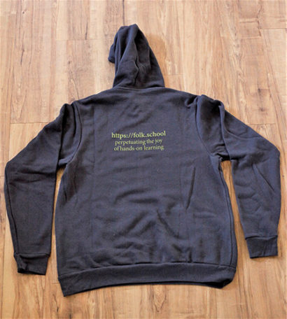 Folk School Sweat Shirt Back