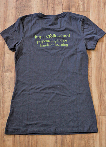 Folk School Tee Shirt Back