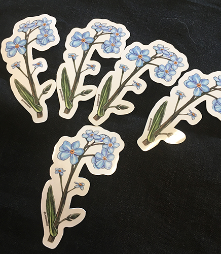 Brandy Klindworth Forget me knot stickers