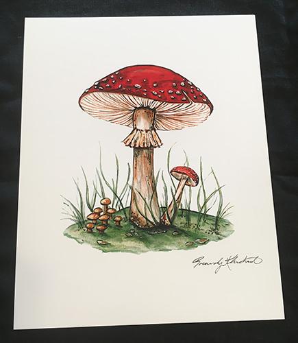Brandy Klindworth Mushroom Poster
