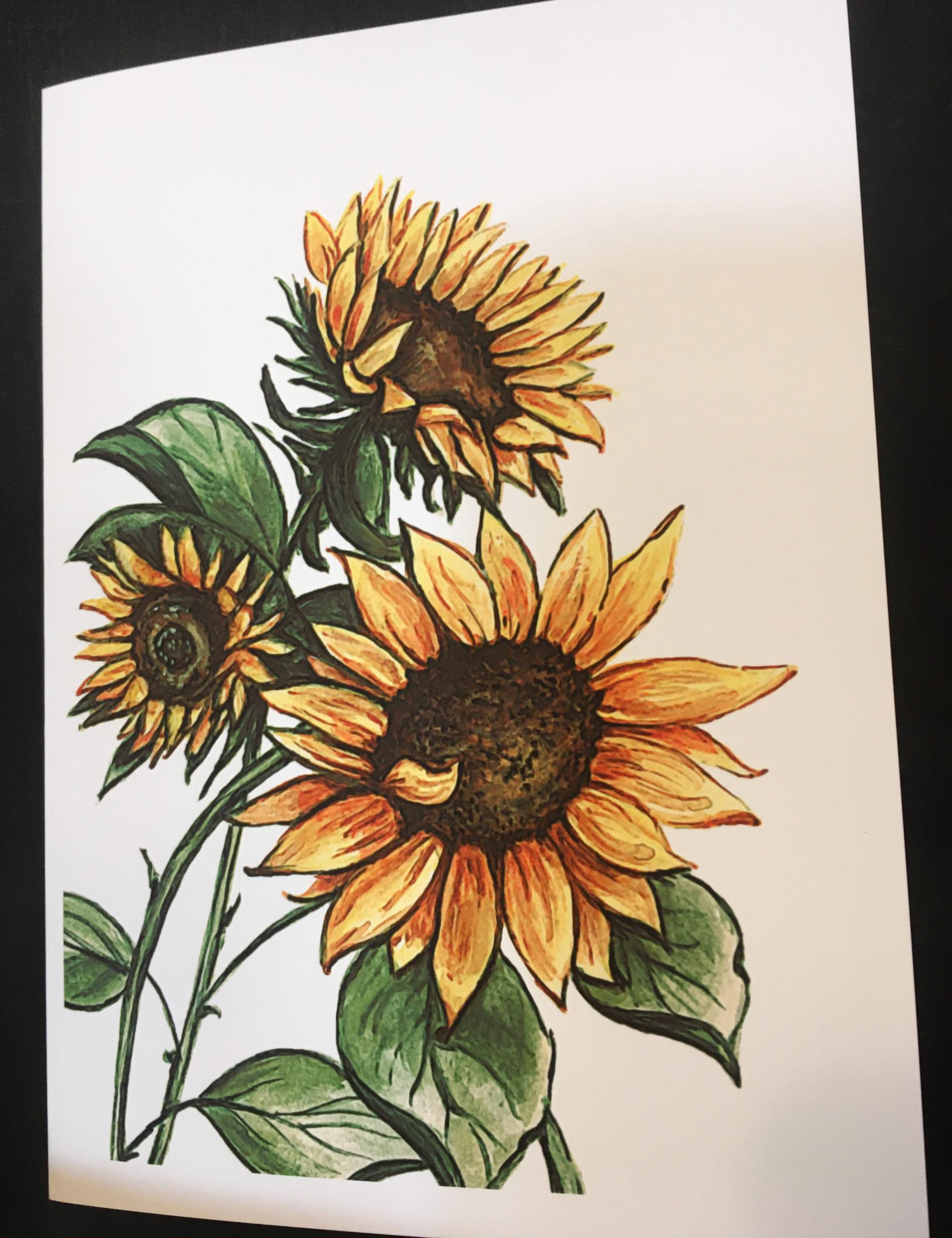 Brandy Klindworth Sunflower card