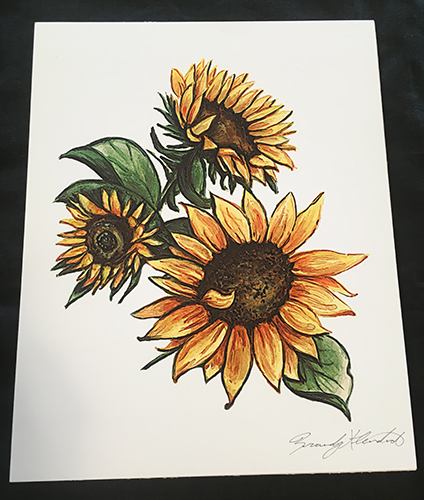 Brandy Klindworth Sunflower poster