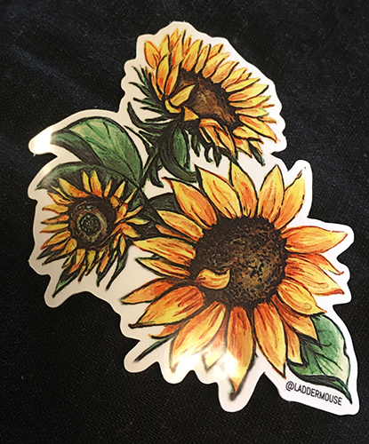 Brandy Klindworth Sunflower sticker