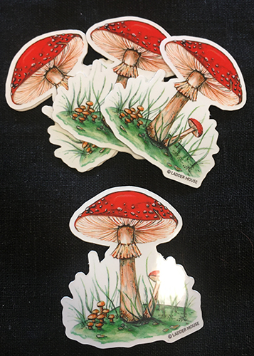 Brandy Klindworth mushroom stickers