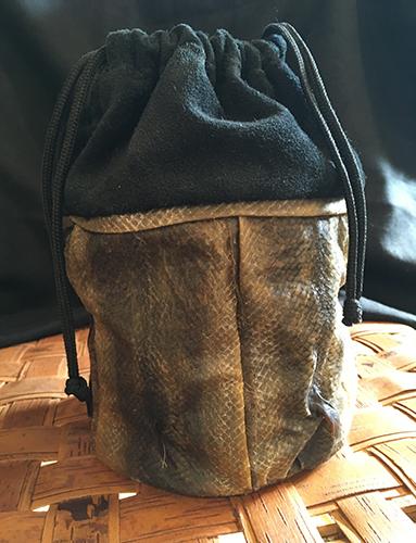 Jennifer Lent Fish Skin Drawstring Bag