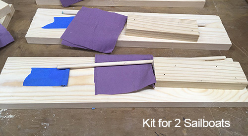 Kit for two sailboats