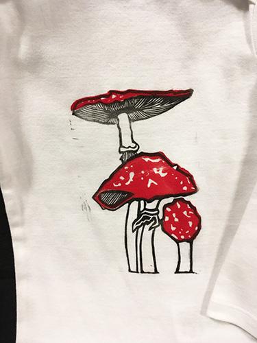 Linda Wies Mushroom Onesie