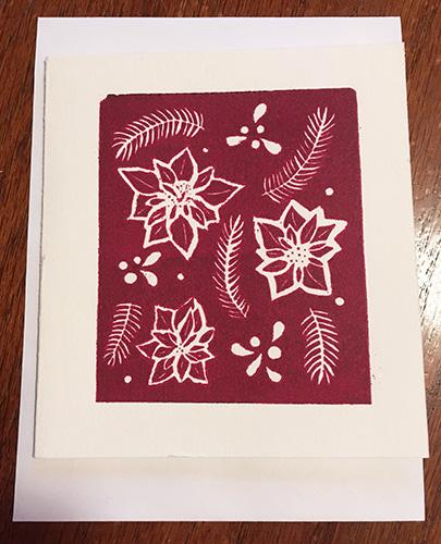 Hannah Gerrish Poinsettia Card