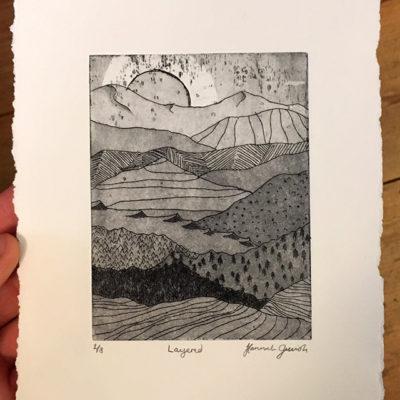 """Hannah Gerrish """"Layered"""" Print"""