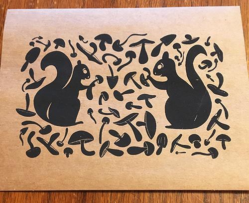Hannah Gerrish Squirrel Card brown