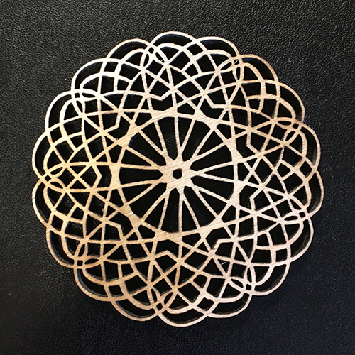 Leah Berman Williams Laser Cut Ornament Circle