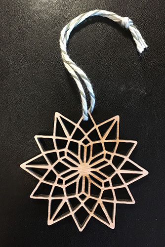 Leah Berman Williams Laser Cut Ornament Star