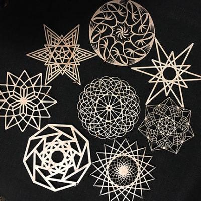 Wood Ornaments Leah Berman Williams