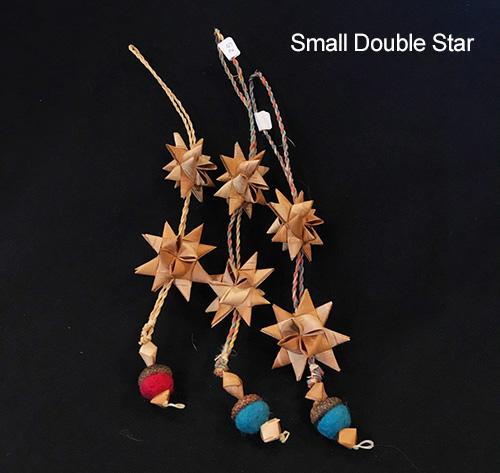 John Zazada Birch Bark Star Small double star